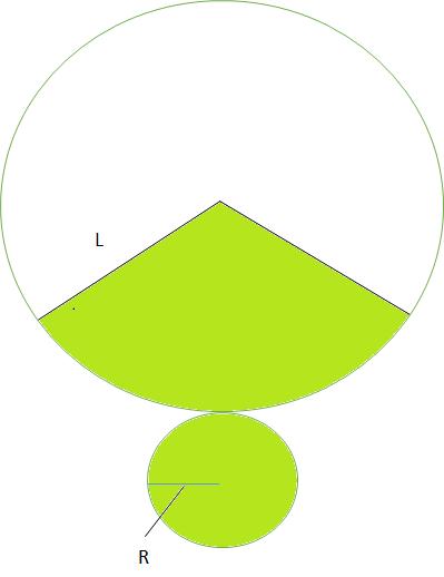 円錐の展開図