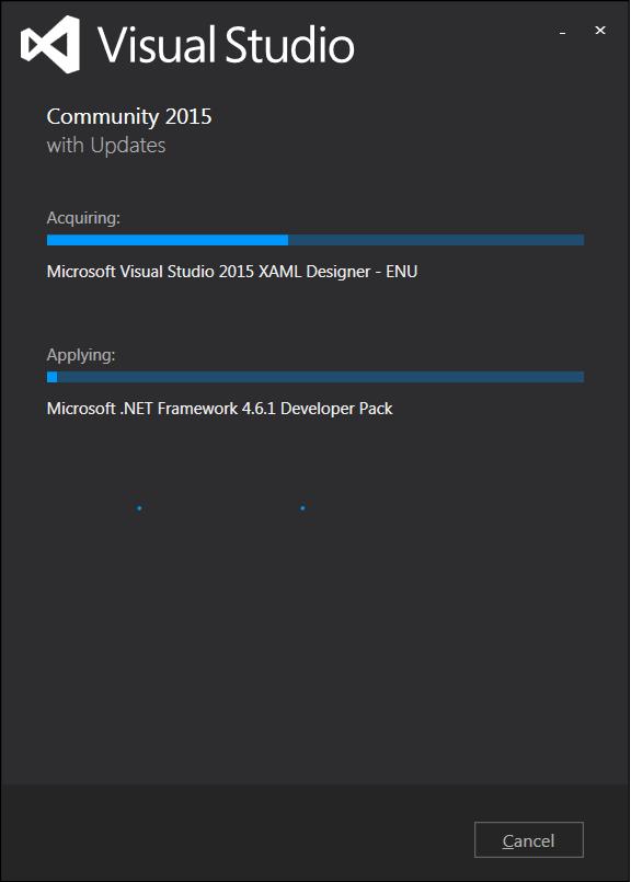 VS2015 インストール画面