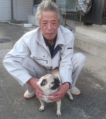 愛犬のビビと宮崎さん