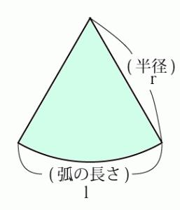 扇形 の 中心 角 の 求め 方 公式